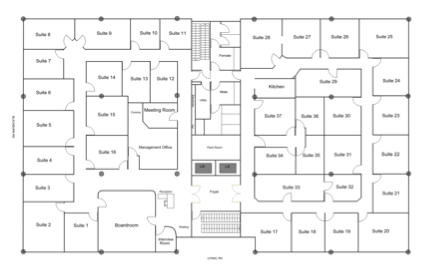 Waverley serviced offices layout map